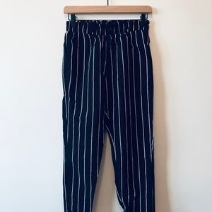 Kendall & Kylie Striped Smocked Waist Pants